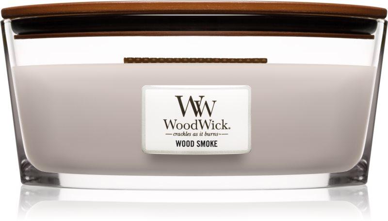 Woodwick Wood Smoke illatos gyertya  453,6 g fa kanóccal (Hearthwick)