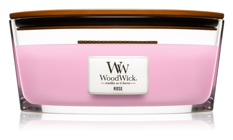 Woodwick Rose Scented Candle 453,6 g Wooden Wick (Hearthwick)