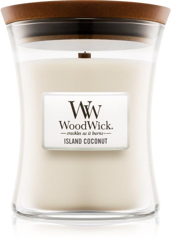 Woodwick Island Coconut Duftkerze  275 g mittlere