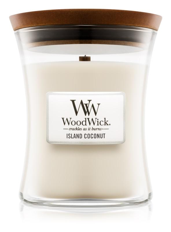 Woodwick Island Coconut lumânare parfumată  275 g mediu
