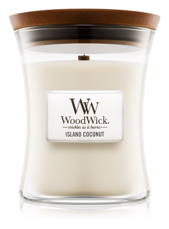 Woodwick Island Coconut vonná sviečka 275 g stredná