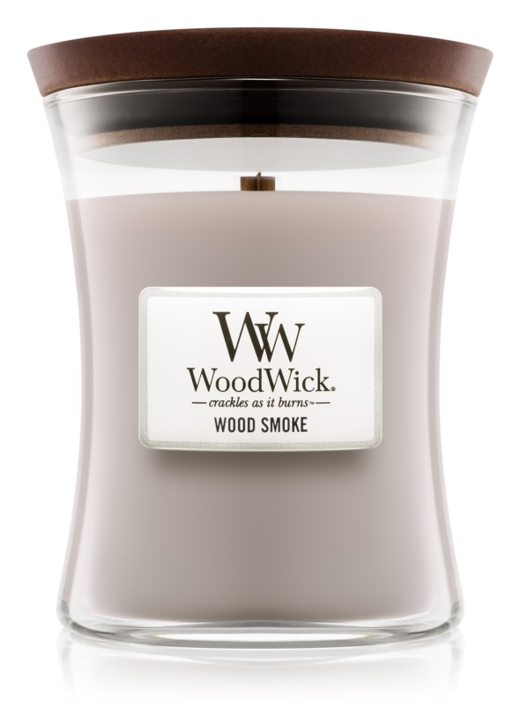 Woodwick Wood Smoke lumânare parfumată  275 g mediu