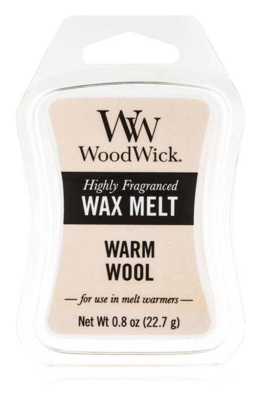 Woodwick Warm Wool tartelette en cire 22,7 g