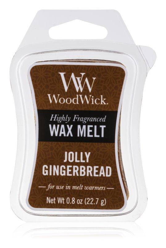 Woodwick Jolly Gingerbread tartelette en cire 22,7 g