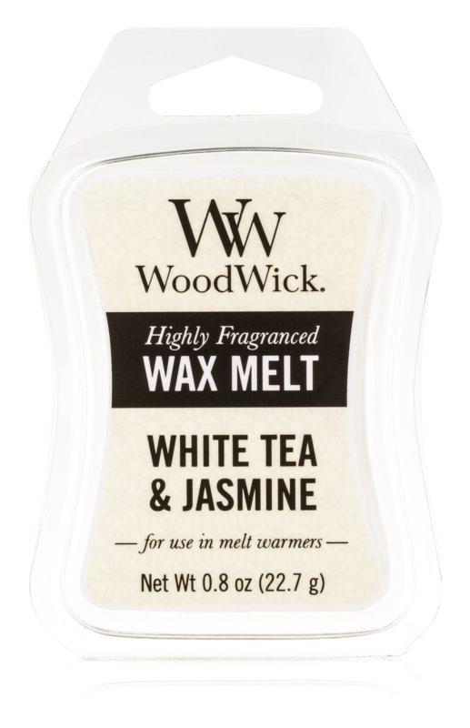 Woodwick White Tea & Jasmin tartelette en cire 22,7 g