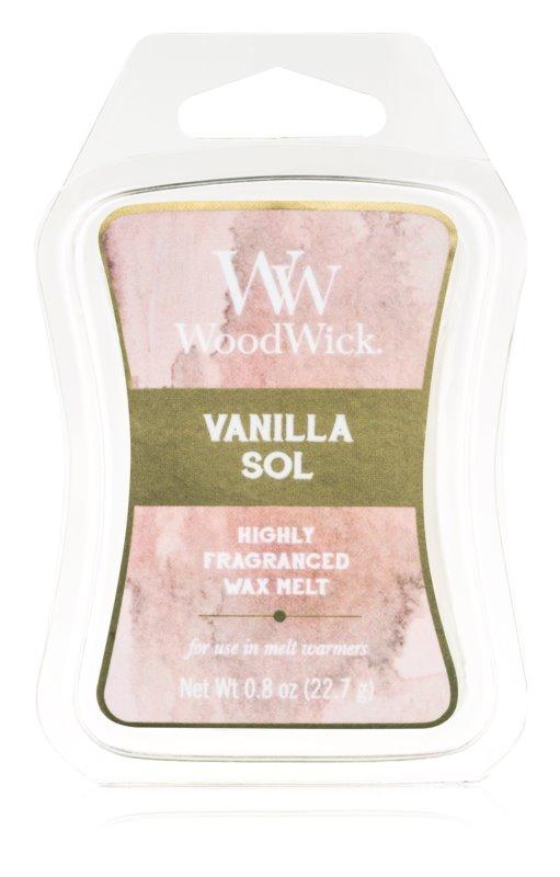 Woodwick Vanilla Sol Duftwachs für Aromalampe 22,7 g Artisan