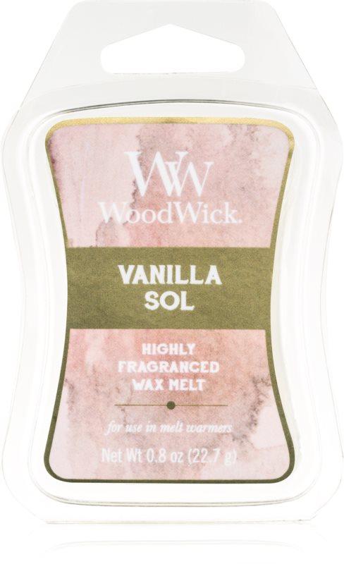 Woodwick Vanilla Sol tartelette en cire 22,7 g Artisan