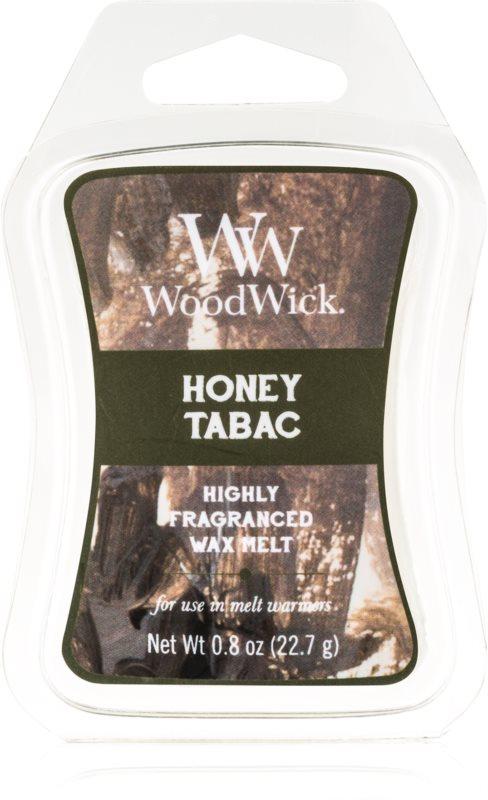 Woodwick Honey Tabac tartelette en cire 22,7 g Artisan