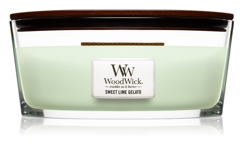 Woodwick Sweet Lime Gelato bougie parfumée 453,6 g Hearthwick