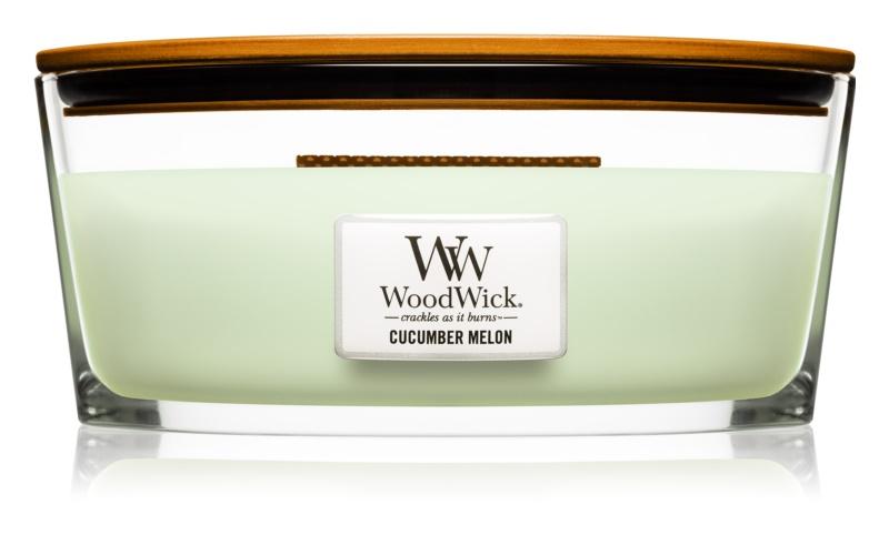 Woodwick Cucumber Melon lumânare parfumată  453,6 g cu fitil din lemn (Hearthwick)