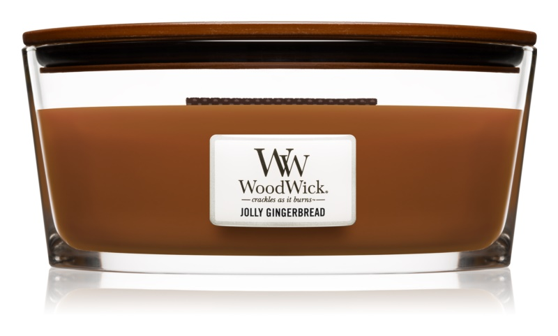 Woodwick Jolly Gingerbread Scented Candle 453,6 g Hearthwick