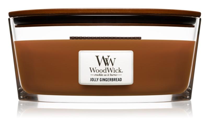 Woodwick Jolly Gingerbread vonná sviečka 453,6 g Hearthwick