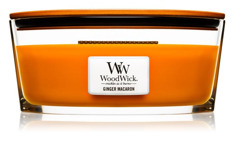 Woodwick Ginger Macaron bougie parfumée 453,6 g Hearthwick