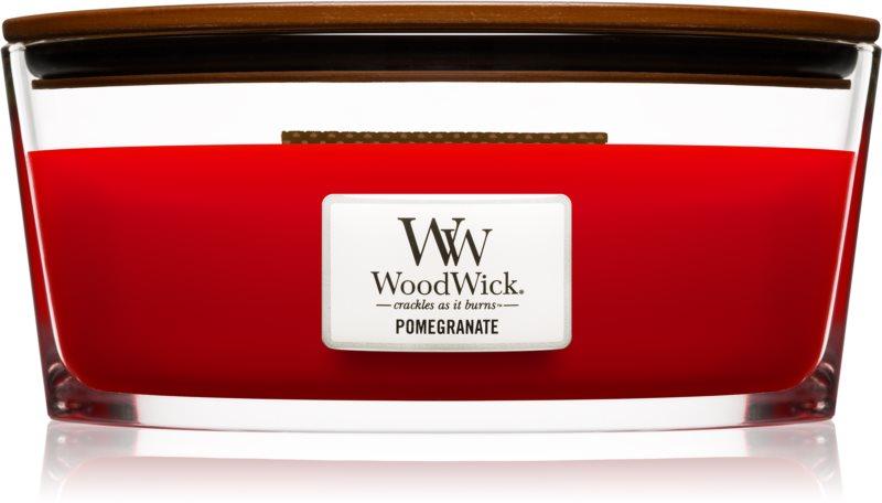 Woodwick Pomegranate świeczka zapachowa  453,6 g z drewnianym knotem (Hearthwick)