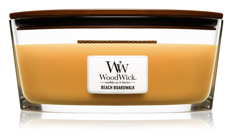 Woodwick Beach Boardwalk lumânare parfumată  453,6 g Hearthwick