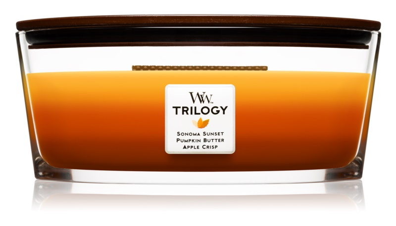 Woodwick Autumn Comforts bougie parfumée 453,6 g Hearthwick
