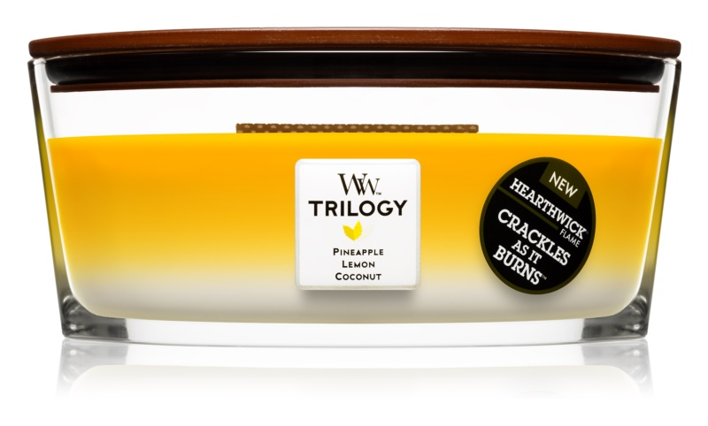 Woodwick Trilogy Fruits of Summer Scented Candle 453,6 g Hearthwick