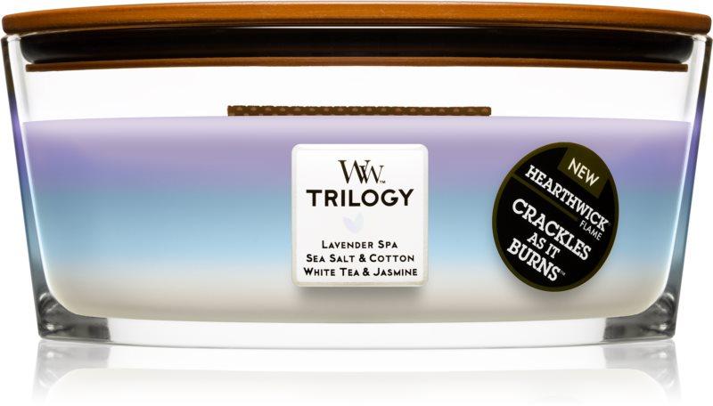 Woodwick Trilogy Calming Retreat Duftkerze  453,6 g Hearthwick