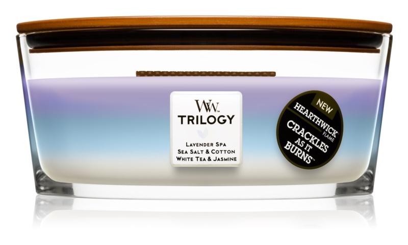 Woodwick Trilogy Calming Retreat świeczka zapachowa  453,6 g Hearthwick
