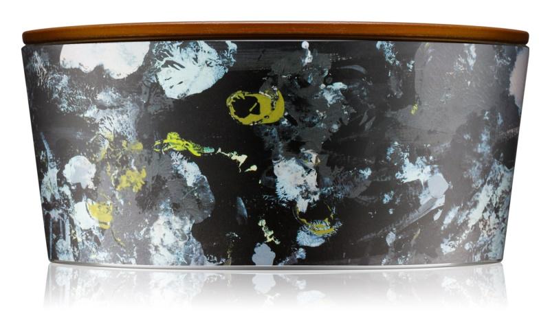 Woodwick Artisan Ellipse Ebony Woods bougie parfumée 453,6 g avec mèche en bois (Hearthwick)
