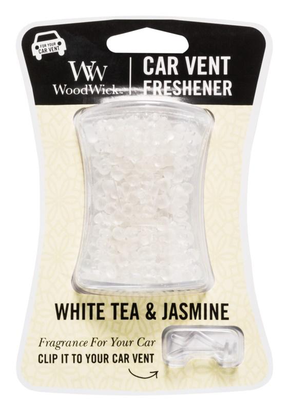 Woodwick White Tea & Jasmin parfum pentru masina   Clip