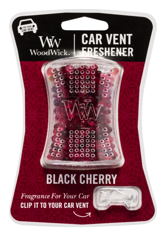 Woodwick Black Cherry vôňa do auta   clip