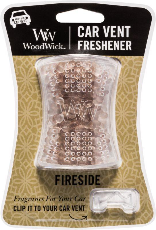 Woodwick Fireside vôňa do auta   clip