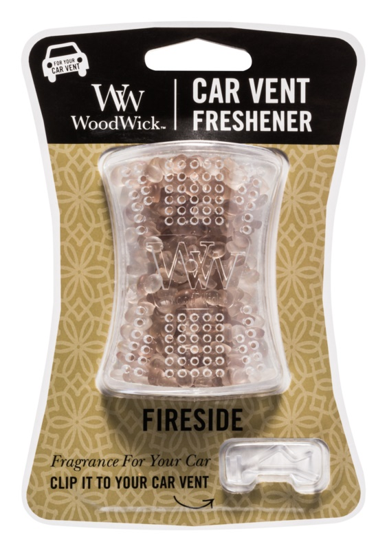Woodwick Fireside vůně do auta   clip