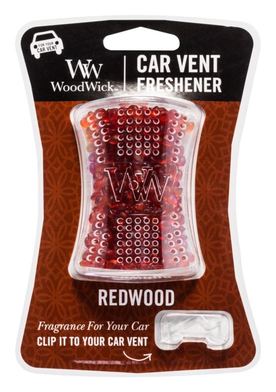Woodwick Red Wood odświeżacz do samochodu   klips