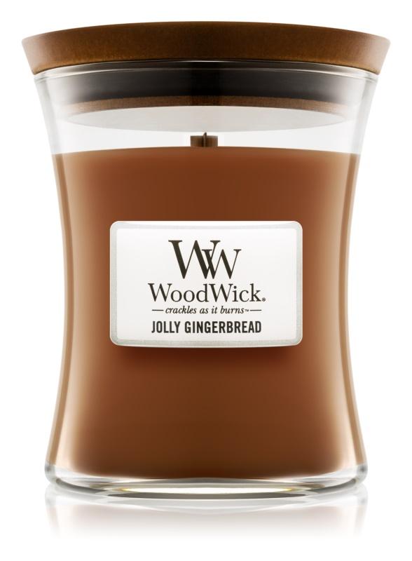 Woodwick Jolly Gingerbread illatos gyertya  275 g közepes