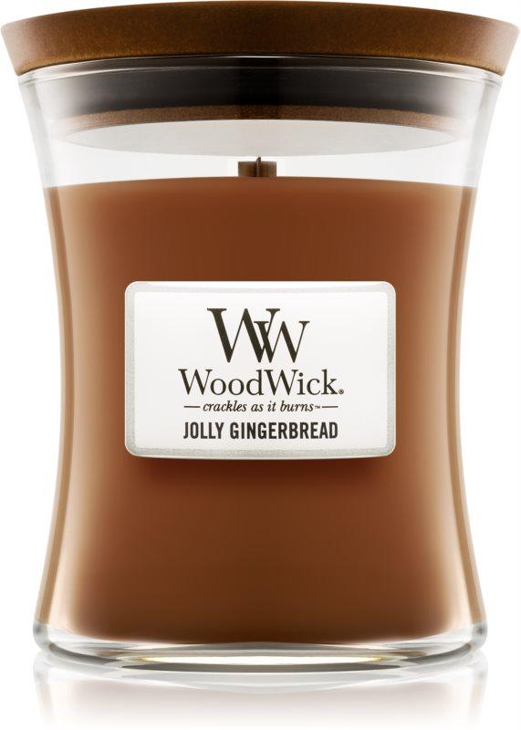 Woodwick Jolly Gingerbread lumanari parfumate  275 g mediu