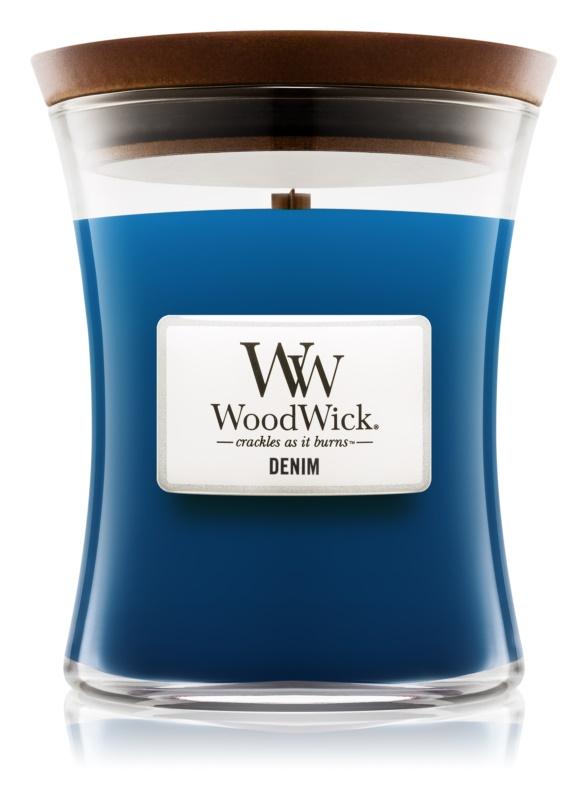 Woodwick Denim lumanari parfumate  275 g mediu