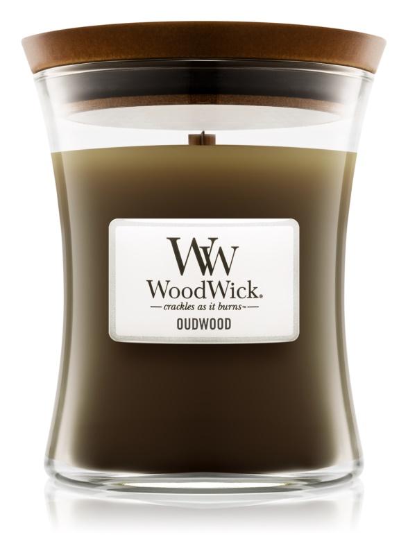 Woodwick Oudwood lumanari parfumate  275 g mediu