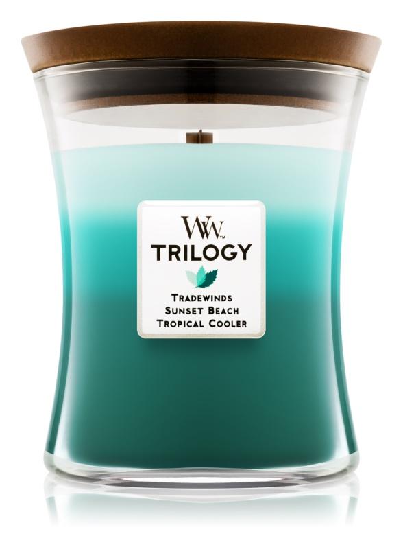 Woodwick Trilogy Ocean Escape vonná svíčka 275 g střední