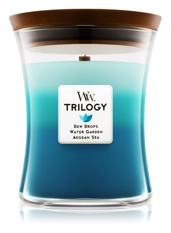 Woodwick Trilogy Gentle Rain ароматна свещ  275 гр. среден