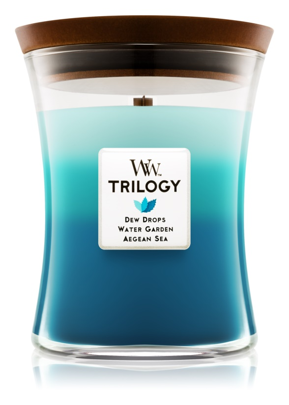 Woodwick Trilogy Gentle Rain vonná sviečka 275 g stredná