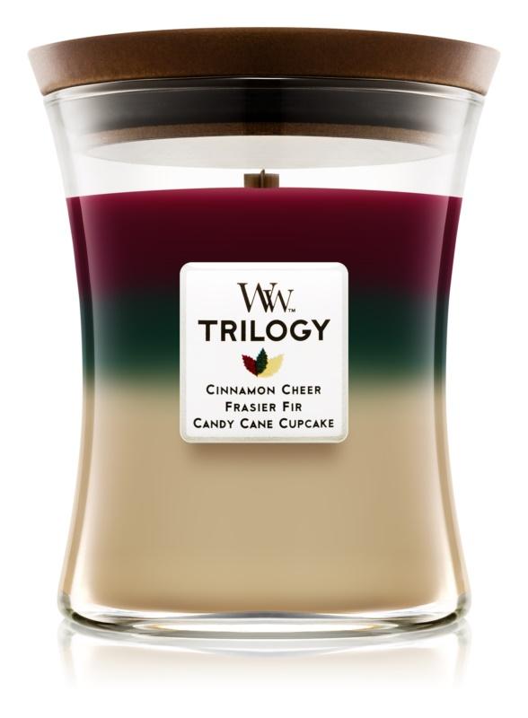 Woodwick Trilogy Christmas Classic bougie parfumée 275 g moyenne