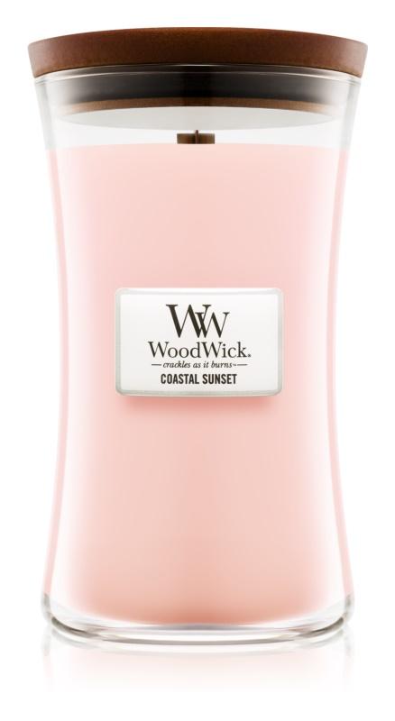 Woodwick Coastal Sunset bougie parfumée 609,5 g avec mèche en bois
