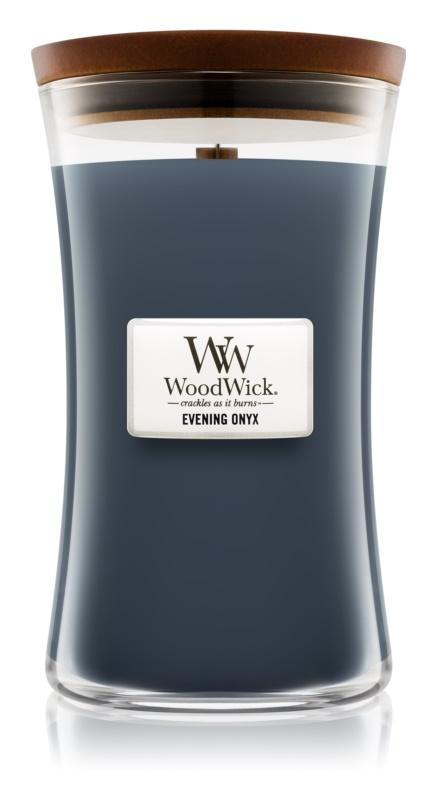 Woodwick Evening Onyx lumânare parfumată  609,5 g cu fitil din lemn