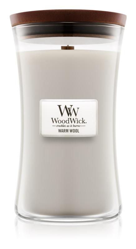 Woodwick Warm Wool bougie parfumée 609,5 g grande