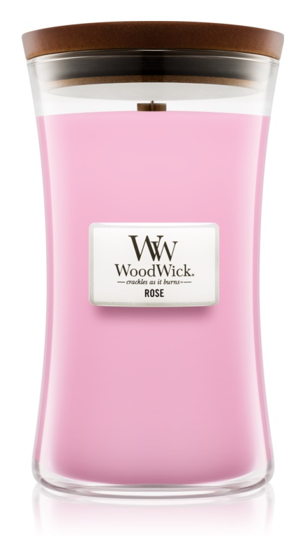 Woodwick Rose Scented Candle 609,5 g Large