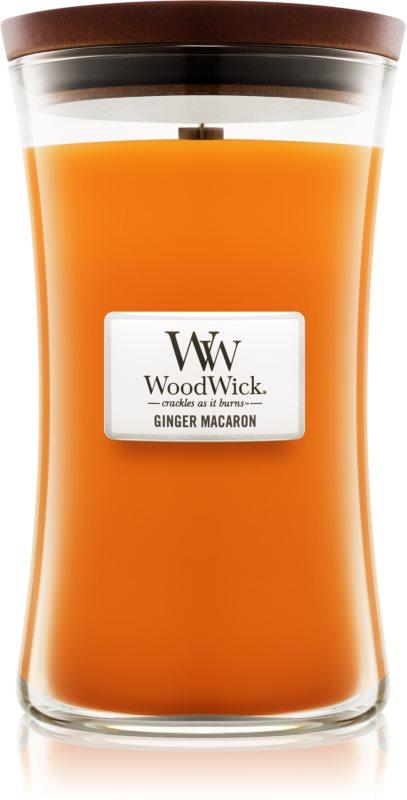 Woodwick Ginger Macaron vonná svíčka 609,5 g velká