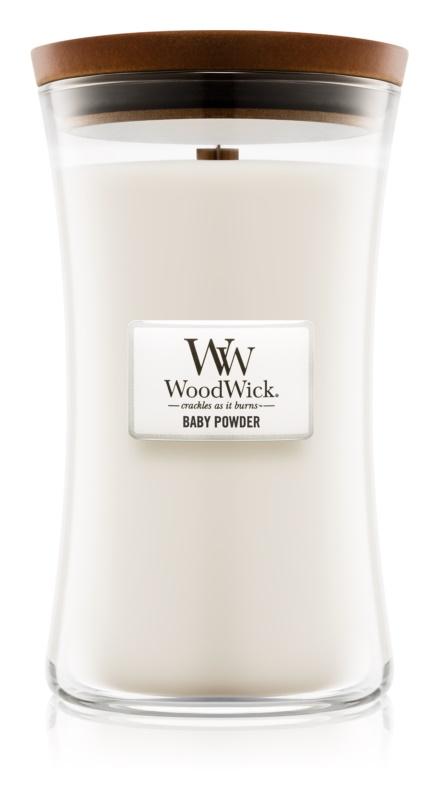 Woodwick Baby Powder vonná svíčka 609,5 g velká