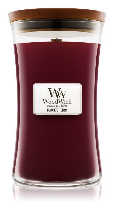 Woodwick Black Cherry Scented Candle 609,5 g Large