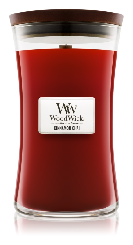 Woodwick Cinnamon Chai bougie parfumée 609,5 g grande
