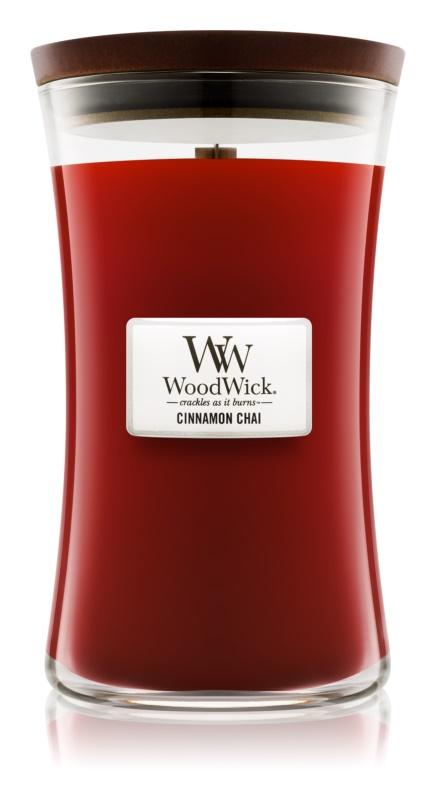Woodwick Cinnamon Chai świeczka zapachowa  609,5 g duża