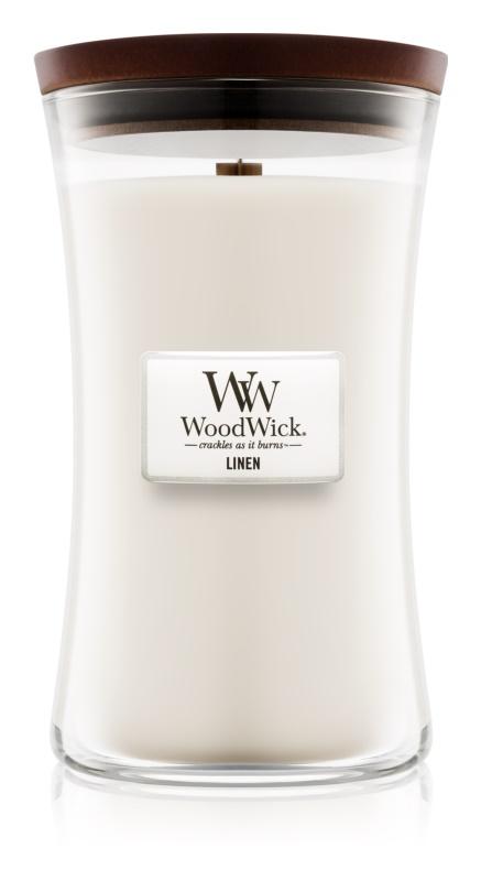 Woodwick Linen bougie parfumée 609,5 g grande