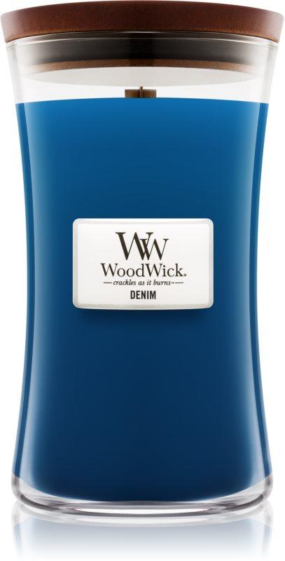 Woodwick Denim candela profumata 609,5 g grande