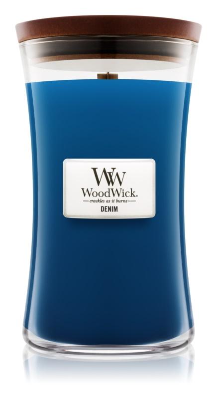 Woodwick Denim lumanari parfumate  609,5 g mare