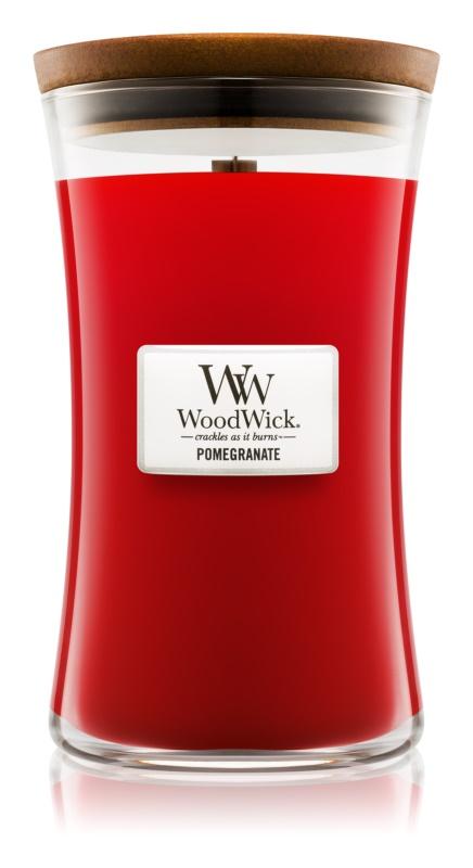 Woodwick Pomegranate bougie parfumée 609,5 g avec mèche en bois
